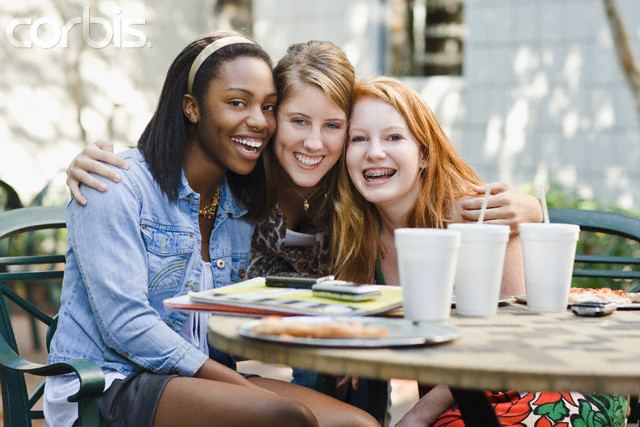 Teenage Girl Friends Hanging Out